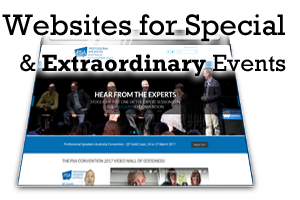 Websites for Special & Extraordinary Events